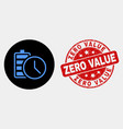 battery charge time icon and scratched zero vector image vector image