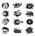 black splashes sale promotional badges special vector image vector image
