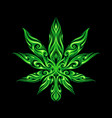 cannabis leaf tribal tattoo vector image