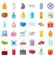 cargo transportation icons set cartoon style vector image vector image