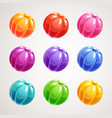 cartoon colorful jelly balls glossy sweet round vector image vector image