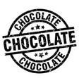 chocolate round grunge black stamp vector image vector image