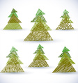 Christmass tree set vector image