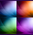 colorful abstract background set vector image