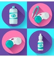 Contact lens Container daily solution eye drops vector image