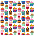 cute cupcakes and muffins chocolate vector image vector image
