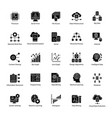 data science glyph set vector image vector image