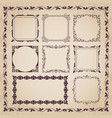decorative calligraphic frames in vintage style vector image vector image