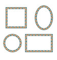 different shape frames in doodle style retro vector image vector image