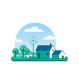 Eco friendly farm concept for clean environment vector image