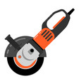 electric sander icon flat electric sander vector image vector image