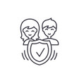 family insurance line icon concept family vector image vector image