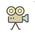 film production camcorder icon design 48x48 vector image