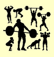 fitness gymnastic sport silhouette vector image