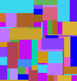 Flat colorful pattern with chaotic rectangles vector image vector image