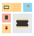 flat icon device set of calculate mainframe vector image vector image