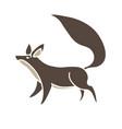 fox cartoon graphic vector image vector image