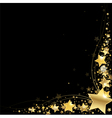 frame gold stars vector image vector image