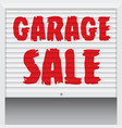 garage sale poster banner template vector image vector image