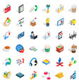 good start icons set isometric style vector image vector image