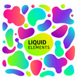 Gradient fluid shapes set
