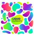 gradient fluid shapes set vector image vector image