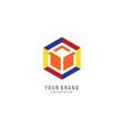 hexagon colorful logo vector image vector image