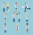 hospital medical staff set of practitioner young vector image vector image