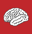 human brain icon - intelligence and iq concept vector image vector image
