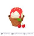ice cream refreshing dessert isolated on white vector image vector image