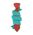 Isolated necktie design vector image vector image