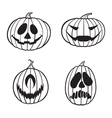 jack o lanterns 1 color vector image vector image