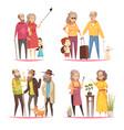 longevity 2x2 design concept vector image vector image