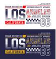 los angeles california typography design vector image vector image