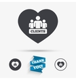 Love Clients sign icon Group of people symbol vector image