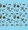 marine fish silhouette vector image vector image