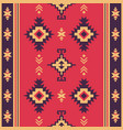 native fabric geometric design kilim ethnic vector image