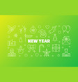 new year horizontal banner in vector image vector image