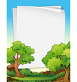 Papers and trees vector image vector image