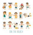 People on the beach eps10 format vector image vector image