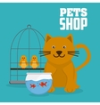 Pet shop with animals design vector image vector image