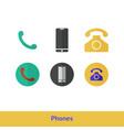 phone icon set call symbol vector image