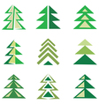pine trees set vector image vector image
