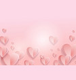 pink heart bokeh abstract background for valentine vector image vector image