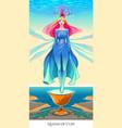 queen of cups tarot card vector image