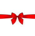 red ribbon and bow isolated on white background vector image vector image