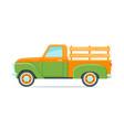 retro farmer pickup truck vector image
