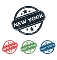 Round New York stamp set vector image vector image