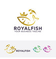 royal fish logo design vector image vector image