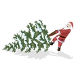 Santa Claus and Christmas tree isolated on white vector image vector image